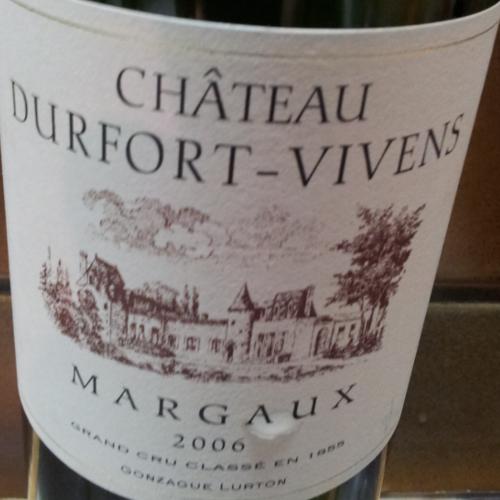 Chateau Durfort Vivens - Margaux 2006